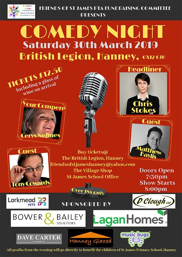 Comedy Night (over 18s only) @ British Legion, Hanney, OX12 0JH